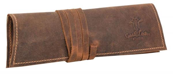 Büffelleder Stiftetasche in braun