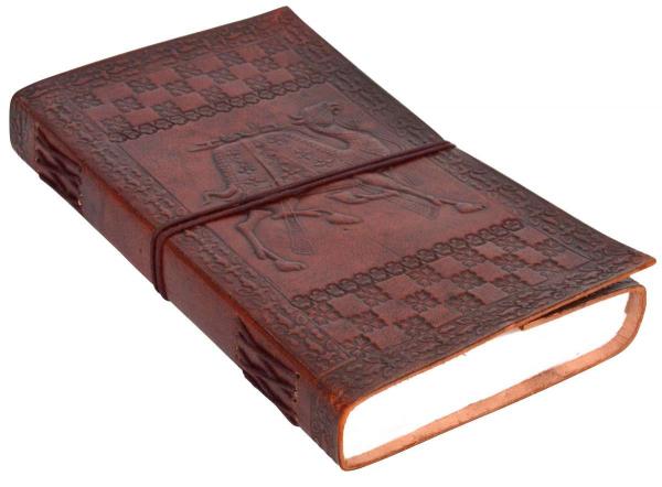 A5 Lederbuch mit Kamel-Motiv