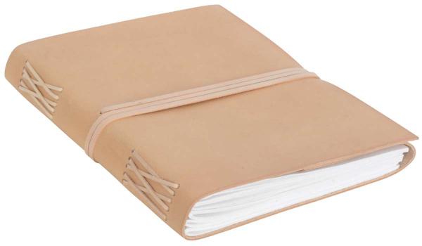 Gästebuch mit hellem Büffelleder-Einband DIN A4