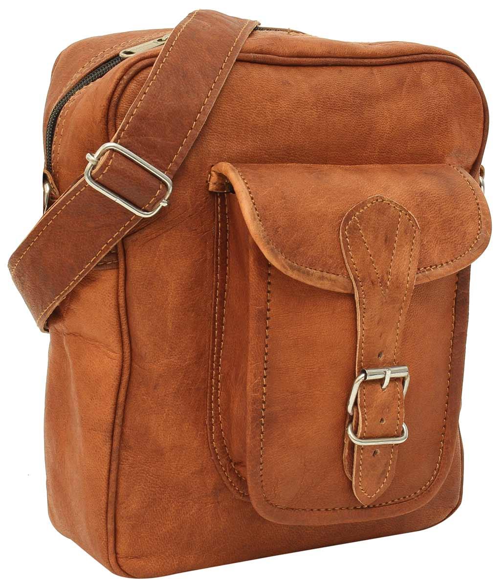 1549c8247bb9a Umhängetasche Handtasche Ledertasche Vintage Braun Leder