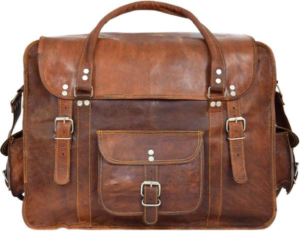 Vintage-Reisetasche aus Ziegenleder