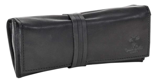 Rindsleder Tabaktasche in schwarz