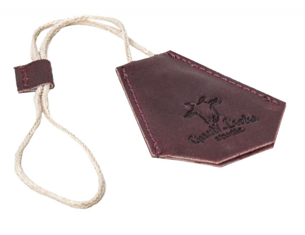 Rotbrauner Leder-Schlüsselanhänger mit Schutz