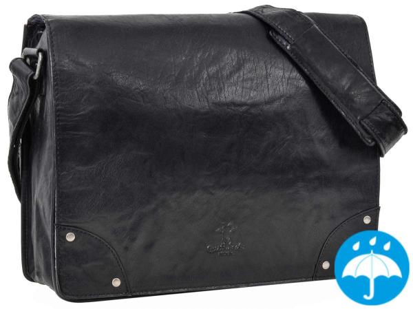 Schwarze Businesstasche aus Rindsleder