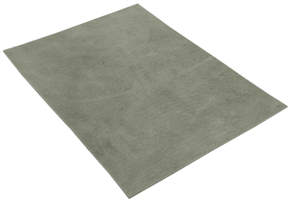 Hide leather sheet size A5 grey