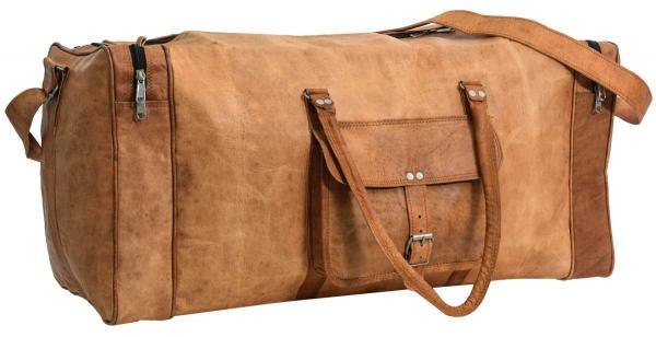 Ziegenleder Reisetasche in braun