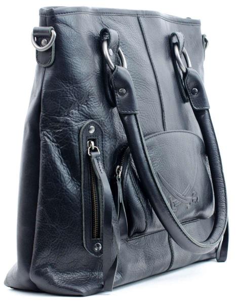 Sansibar Leder-Handtasche mit Henkeln