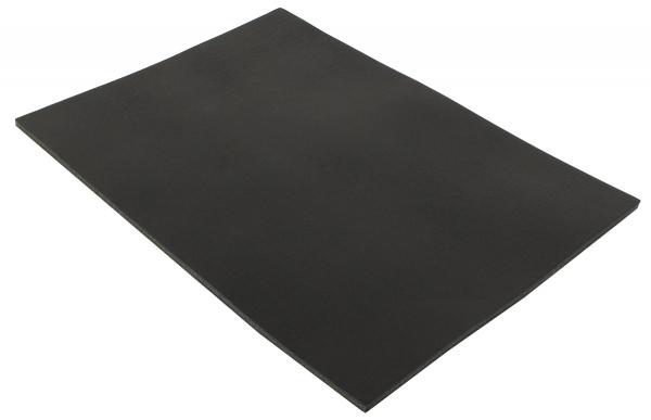 Läderstycke A5 svart buffelläder