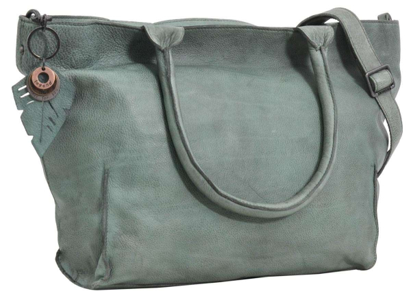 Legend Leder-Shopper in grau