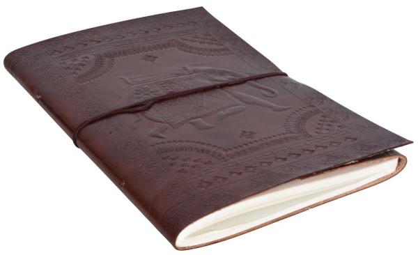 Ledergebundenes Notizbuch mit orientalischem Muster