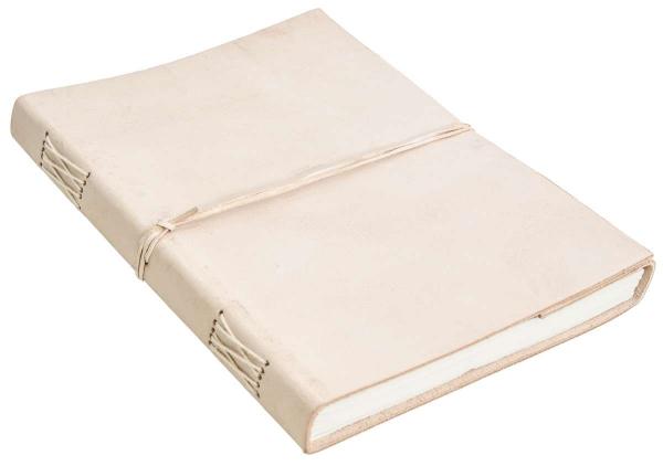 Notizbuch mit hellem Rindsleder-Einband DIN A4