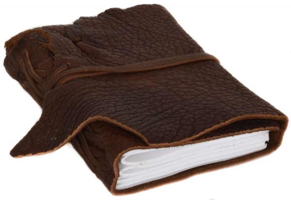 A& Notizbuch mit Ledereinband in braun