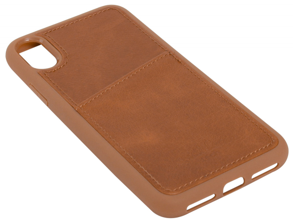 Leder-Case in braun für iPhone X
