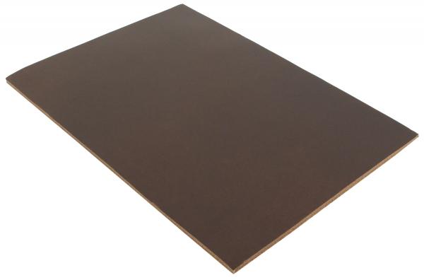 Tummanruskea puhvelinnahkapala A5