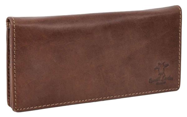 Große dunkelbraune Brieftasche für Damen