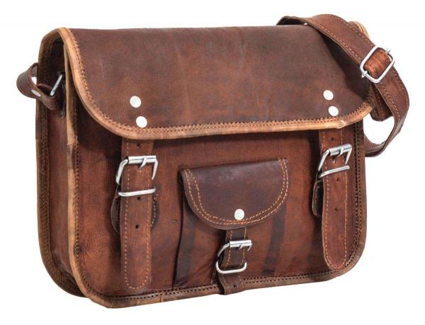 Ziegenleder Handtasche in braun
