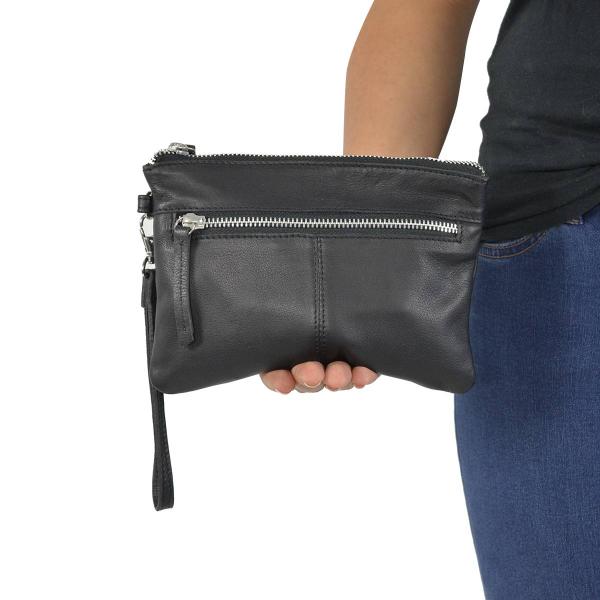Gusti Leder /'Maisie/' Umhängetasche Handtasche Ledertasche Damentasche Schwarz