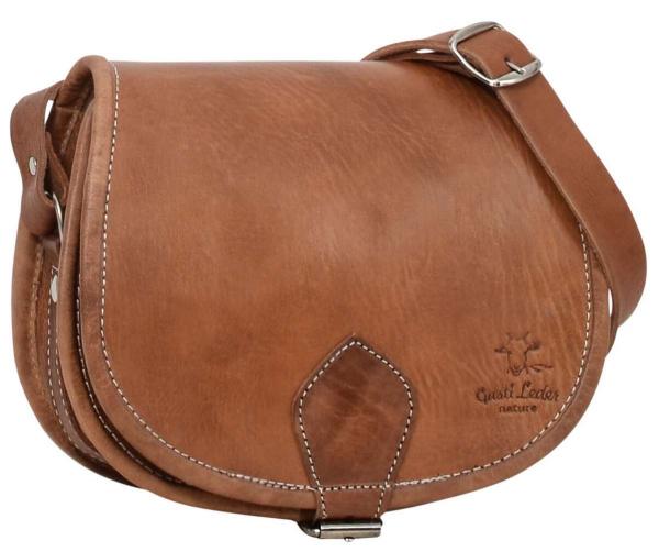 Braune Rindsleder Handtasche
