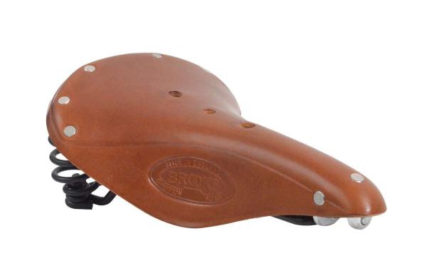 Brauner Brooks Leder-Fahrradsattel für Herren