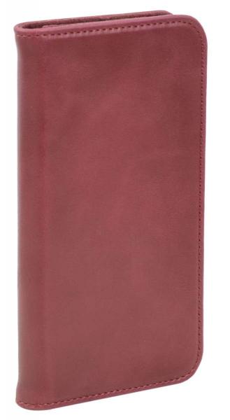 Aufklappbare Leder-Schutzhülle in rot für Samsung Galaxy S7